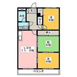マンションサンパレス[3階]の間取り