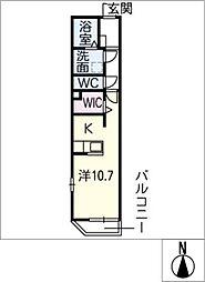 仮)洞町寺前賃貸住宅[1階]の間取り
