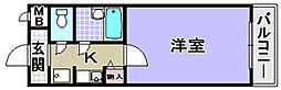 大阪府和泉市浦田町の賃貸マンションの間取り