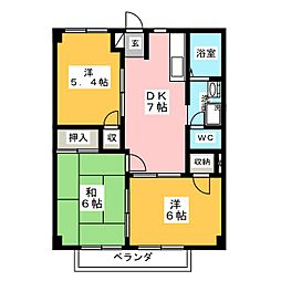 パークヒルズコーマ[2階]の間取り