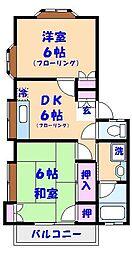 コスモ田久保[A101号室]の間取り