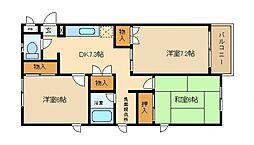 フィルコート東羽倉崎[2階]の間取り