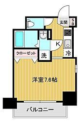 エスリード大阪城アクシス 5階1Kの間取り