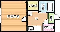 AZZURO高峰[102号室]の間取り
