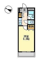 プロニティー230[2階]の間取り