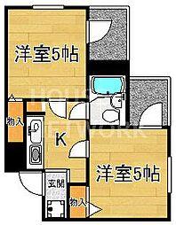 西陣一番館[4B号室号室]の間取り