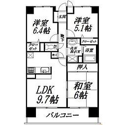 静岡県浜松市中区蜆塚2丁目の賃貸マンションの間取り