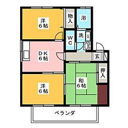 ジュネス柴田[1階]の間取り