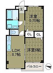 シャトレー新百合ヶ丘2[3階]の間取り