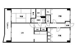 パグーロ東平尾[3階]の間取り