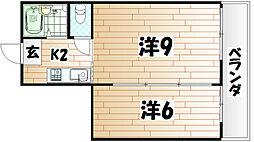 第4エルザビル[10階]の間取り