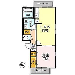 D-room エバーグリーン湘南II[3階]の間取り