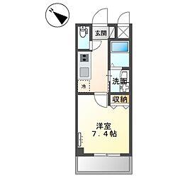 JR阪和線 三国ヶ丘駅 徒歩7分の賃貸マンション 3階1Kの間取り