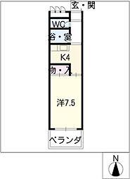 クリーンハウス[2階]の間取り