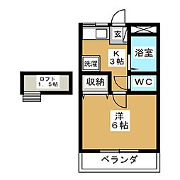 ぱーるハイツ[2階]の間取り