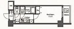 JR埼京線 板橋駅 徒歩6分の賃貸マンション 8階1Kの間取り