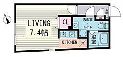 ブランシェ荻窪II 3階ワンルームの間取り