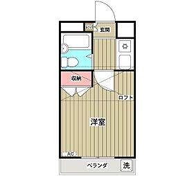 ネルソンパートV[1階]の間取り