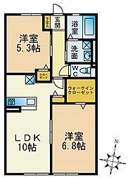 パークハイム横浜鶴見[102号室]の間取り