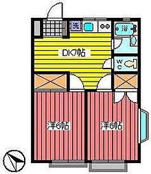 埼玉県さいたま市浦和区常盤5丁目の賃貸アパートの間取り