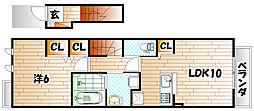 メゾン・ド・プチ・フルール VI[2階]の間取り