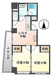 オーシャンハイツ栄[6階]の間取り