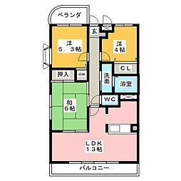 サニーシャトー[4階]の間取り