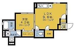 wisteria要町 ~ウィステリア要町~ 1階1LDKの間取り