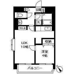 神奈川県横浜市西区平沼2の賃貸マンションの間取り
