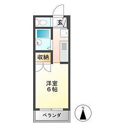 第1ハイツタマキ[1階]の間取り