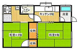 [一戸建] 愛媛県新居浜市東雲町2丁目 の賃貸【/】の間取り