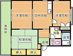 セゾン本城 B[1階]の間取り