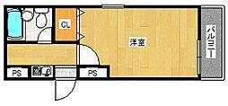 大阪府大阪市西成区千本南2丁目の賃貸マンションの間取り