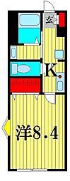 サンクレール松戸[2階]の間取り