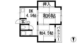 マンションみどり[2階]の間取り