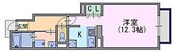 サニーコートB棟[1階]の間取り