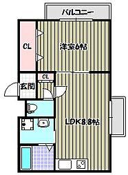 ララフィオーレ堺東[2階]の間取り