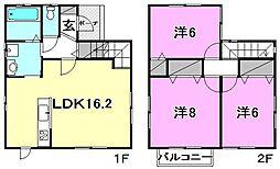 [一戸建] 愛媛県松山市辻町 の賃貸【愛媛県 / 松山市】の間取り