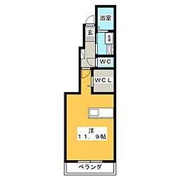 スプリング ベルA[1階]の間取り