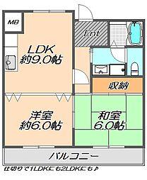 兵庫県神戸市灘区篠原北町4丁目の賃貸マンションの間取り