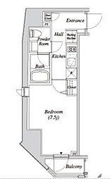 JR山手線 新橋駅 徒歩5分の賃貸マンション 4階1Kの間取り