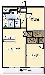 ピーチフローレ3[703号室]の間取り