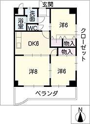 3rd FUKUYA[7階]の間取り
