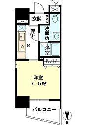 東京都渋谷区広尾5丁目の賃貸マンションの間取り