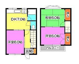 第一大西荘[2階]の間取り