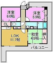 甲耀[7階]の間取り