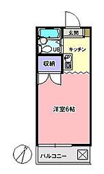 ピュアシティ清瀬[306号室]の間取り