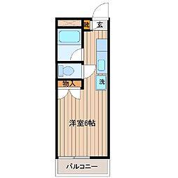 シテイハイム(矢作町)[302号室]の間取り