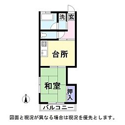 宮坂コーポ[3階]の間取り