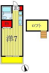 センチュリーハイツA・B[B-105号室]の間取り